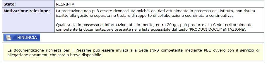 Bonus 600 euro respinto non risulta essere iscritto alle gestione separara INPS